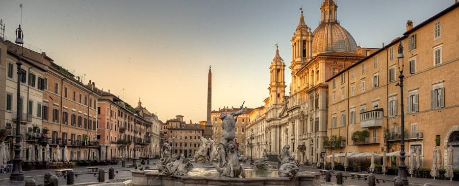 Roma, piazza Navona ed il cinema