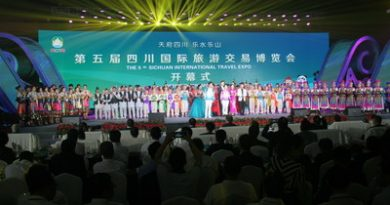 La quinta Sichuan International Travel Expo apre a Leshan, in Cina